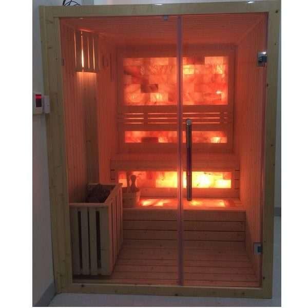 Phòng xông hơi khô vách đá muối PXK09