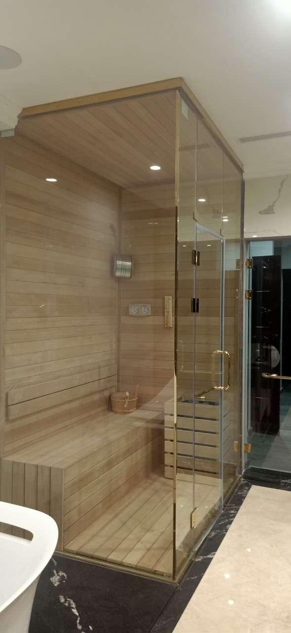 Lắp đặt phòng xông hơi khô, ướt, bồn tắm cho anh Tiến tại Hải Phòng