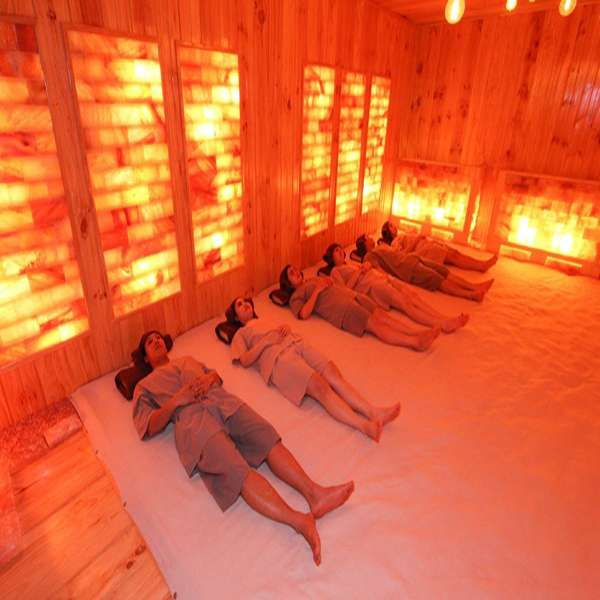 Phòng xông đá muối hồng ngoại PXDM01